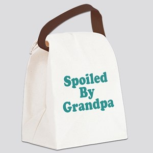 Spoiled By Grandpa Canvas Lunch Bag