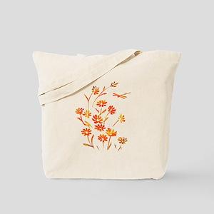 Daisy Dragonfly Summer Tote Bag