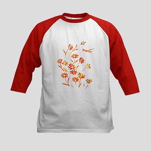 Daisy Dragonfly Summer Kids Baseball Jersey