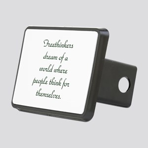 Freethought Quote Rectangular Hitch Cover