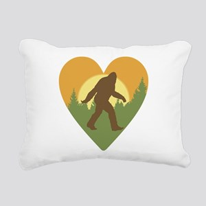 Bigfoot Love Rectangular Canvas Pillow