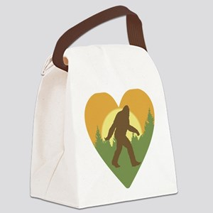 Bigfoot Love Canvas Lunch Bag