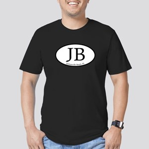 JB Jacksonville Beach Oval Men's Fitted T-Shirt (d