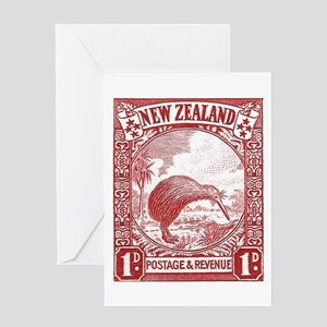 1936 New Zealand Kiwi Stamp Greeting Cards