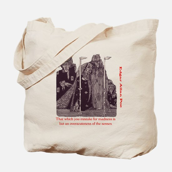 Poe on Madness Tote Bag