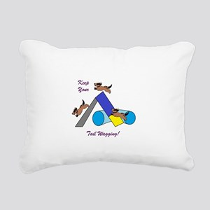 Keep Wagging Rectangular Canvas Pillow