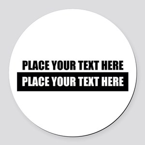 Text message Customized Round Car Magnet
