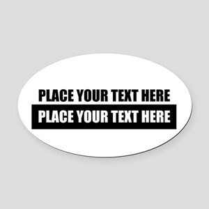 Text message Customized Oval Car Magnet