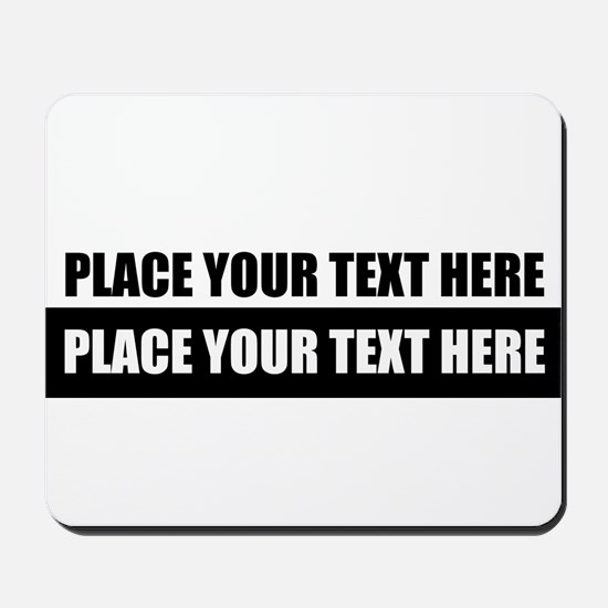Text message Customized Mousepad