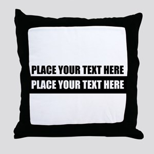 Text message Customized Throw Pillow