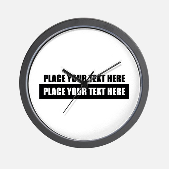Text message Customized Wall Clock