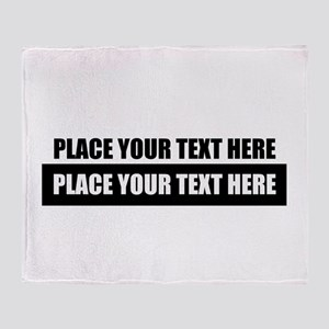 Text message Customized Throw Blanket