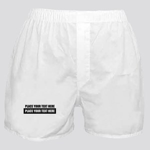 Text message Customized Boxer Shorts