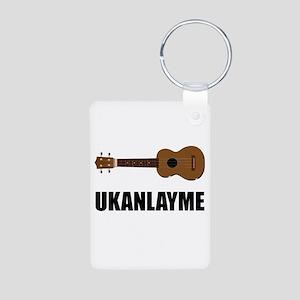 Ukanlayme Ukulele Aluminum Photo Keychain