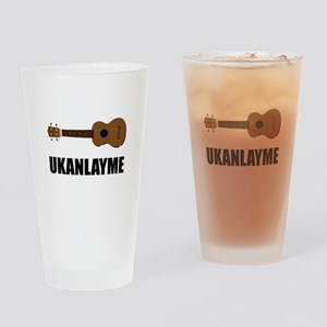Ukanlayme Ukulele Drinking Glass