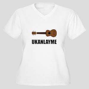 Ukanlayme Ukulele Women's Plus Size V-Neck T-Shirt