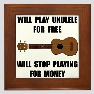 Ukulele Playing Framed Tile