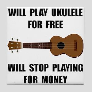 Ukulele Playing Tile Coaster