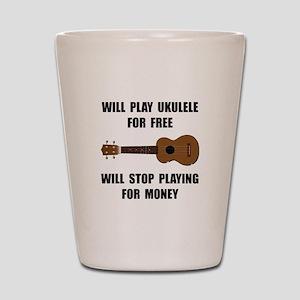 Ukulele Playing Shot Glass