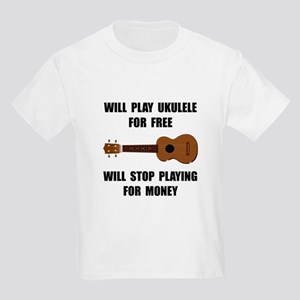 Ukulele Playing Kids Light T-Shirt