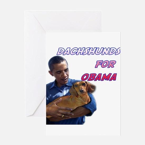 Obama Holding Dachshund Greeting Card