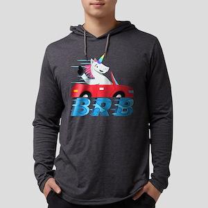 Emoji Unicorn BRB Mens Hooded Shirt