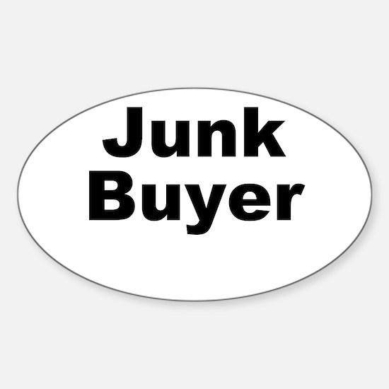 Junk Buyer Sticker (Oval)