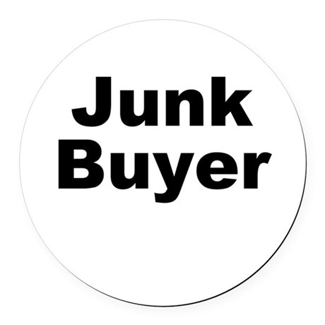 Junk Buyer Round Car Magnet