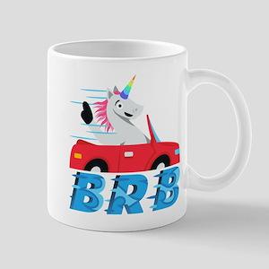 Emoji Unicorn BRB 11 oz Ceramic Mug