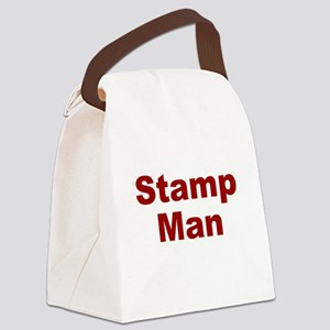 Stamp Man Canvas Lunch Bag