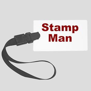 Stamp Man Large Luggage Tag