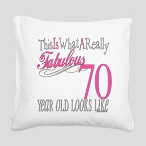Fabulous 70yearold Square Canvas Pillow