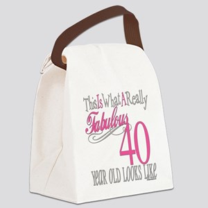 Fabulous 40yearold copy Canvas Lunch Bag