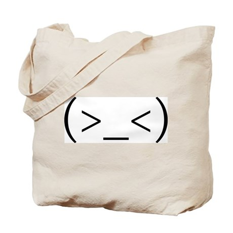 Angry Anime Smiley Tote Bag