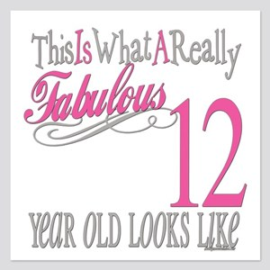 Fabulous 12yearold 5.25 x 5.25 Flat Cards