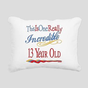 Incredibleat13 Rectangular Canvas Pillow