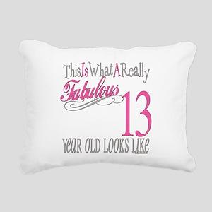 Fabulous 13yearold Rectangular Canvas Pillow