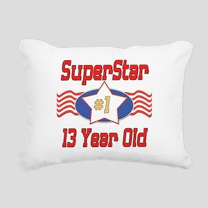 SUPERSTARbirthday13 Rectangular Canvas Pillow