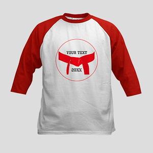 Custom Martial Arts Red Belt Kids Baseball Jersey