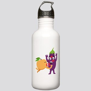 Emoji Peach Eggplant K Stainless Water Bottle 1.0L