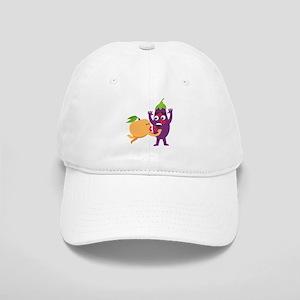 Emoji Peach Eggplant Kiss Cap