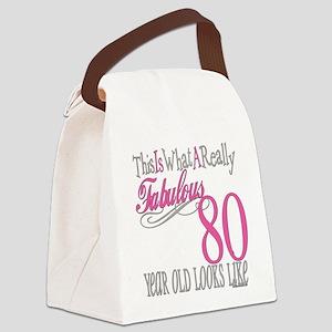 Fabulous 80yearold Canvas Lunch Bag