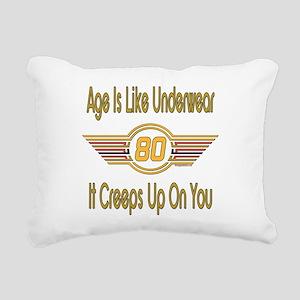 BirthdayUnderwear80 Rectangular Canvas Pillow