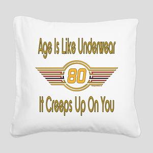 BirthdayUnderwear80 Square Canvas Pillow