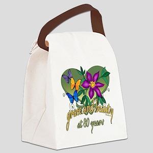 GraceButterfly80 Canvas Lunch Bag