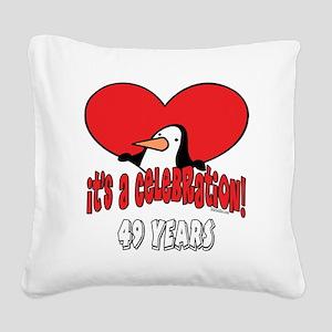 PenguinCel49 Square Canvas Pillow