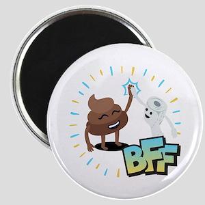 Emoji Poop Toilet Paper BFF Magnet