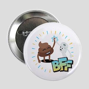 "Emoji Poop Toilet Paper BFF 2.25"" Button (10 pack)"