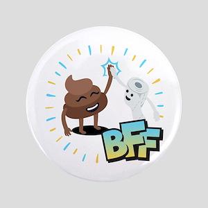 Emoji Poop Toilet Paper BFF Button
