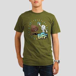 Emoji Poop Toilet Pap Organic Men's T-Shirt (dark)
